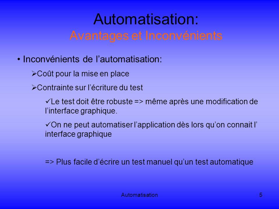 Automatisation: Avantages et Inconvénients
