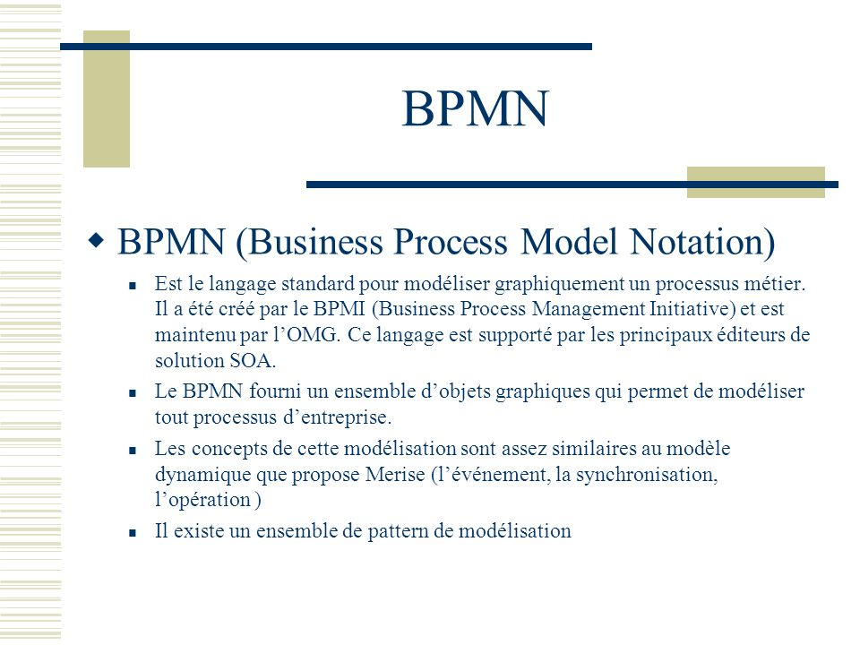 BPMN BPMN (Business Process Model Notation)
