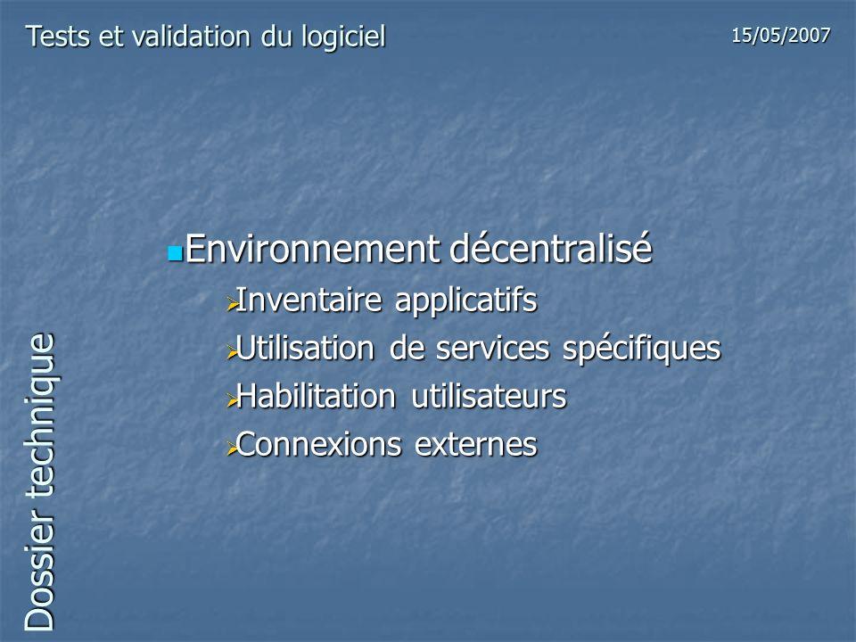 Environnement décentralisé