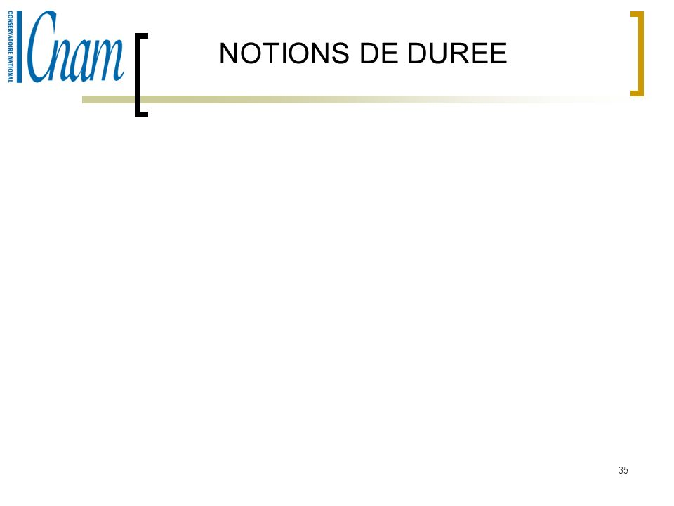 NOTIONS DE DUREE