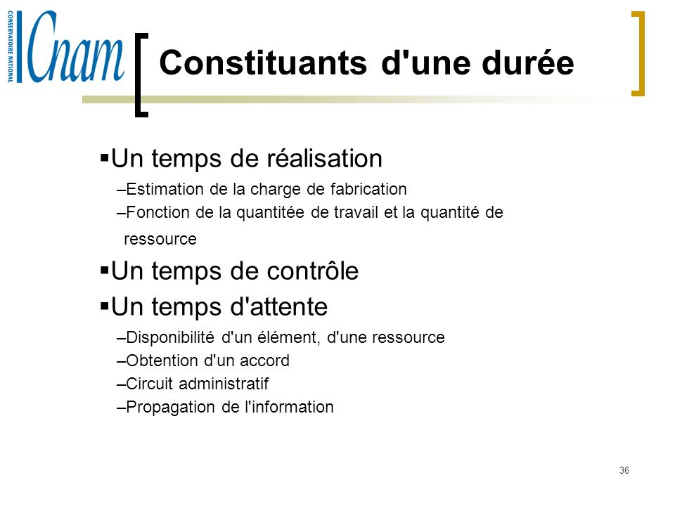 Constituants d une durée