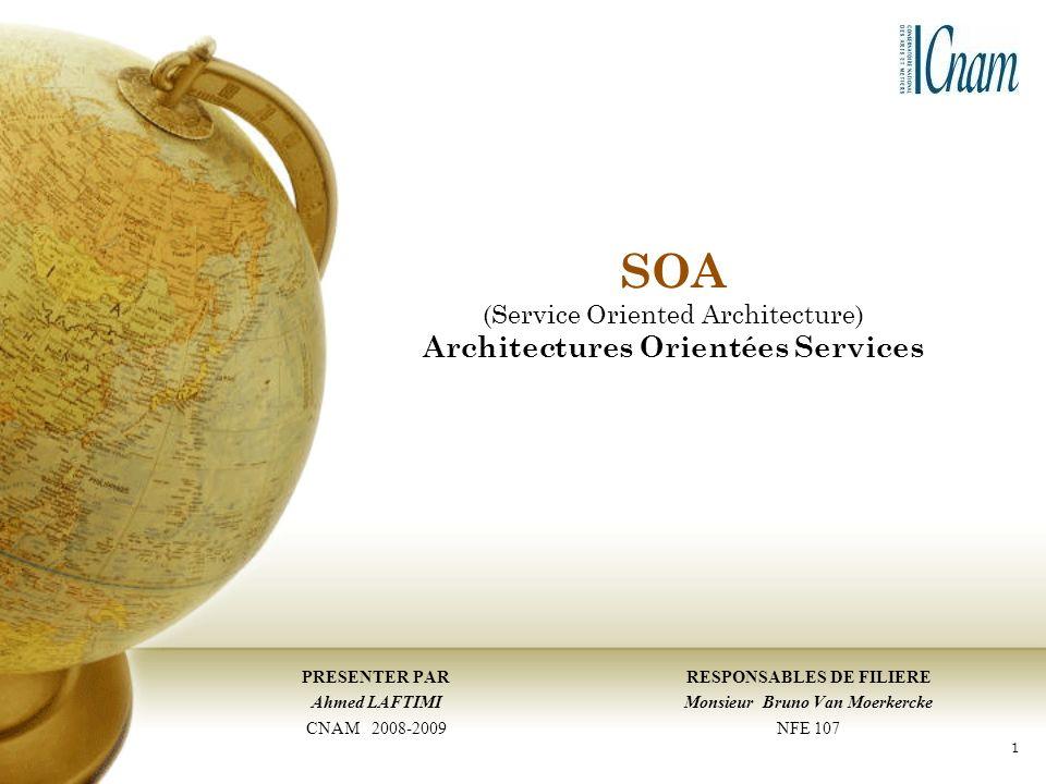 SOA (Service Oriented Architecture) Architectures Orientées Services