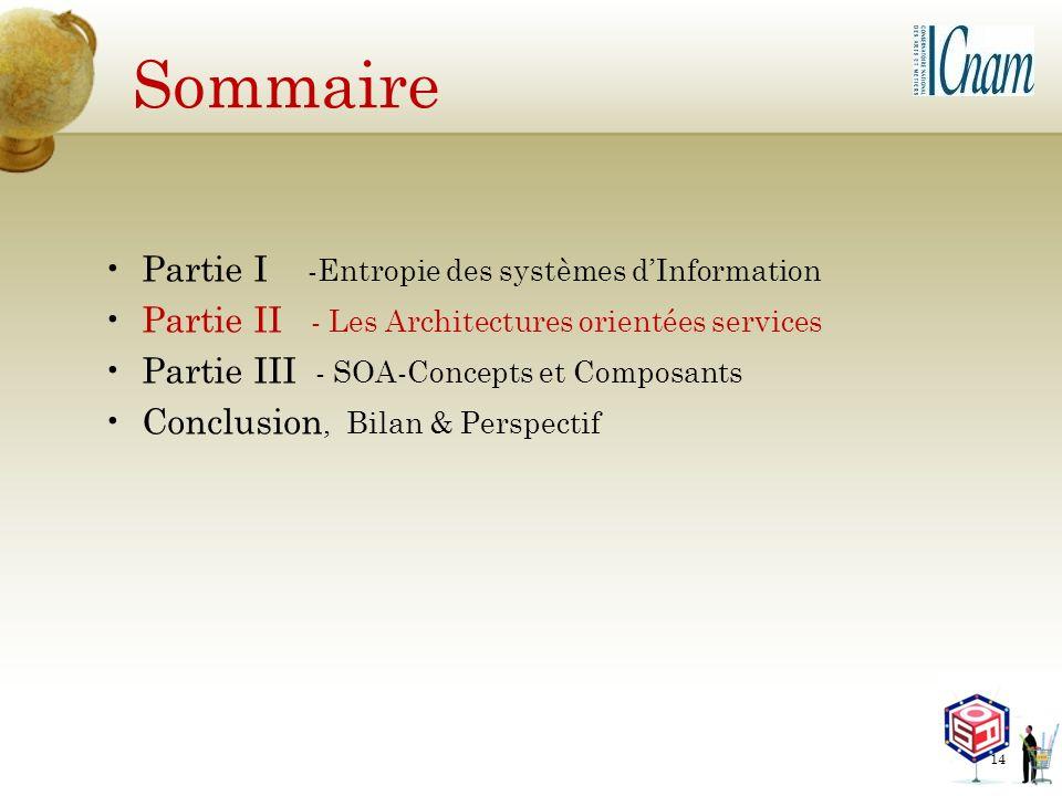 Sommaire Partie I -Entropie des systèmes d'Information