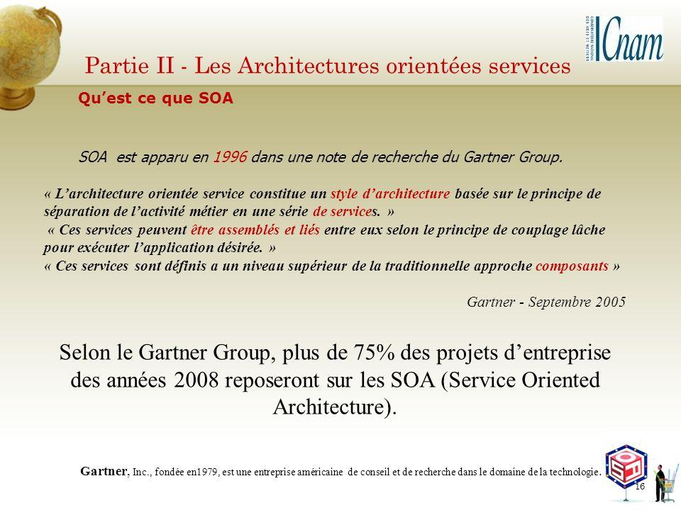Partie II - Les Architectures orientées services