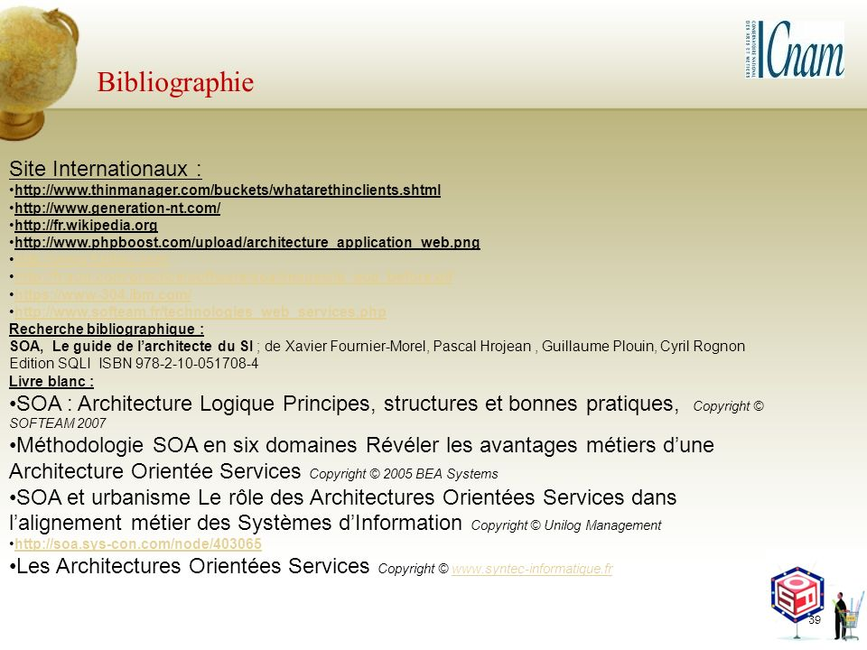 Bibliographie Site Internationaux :