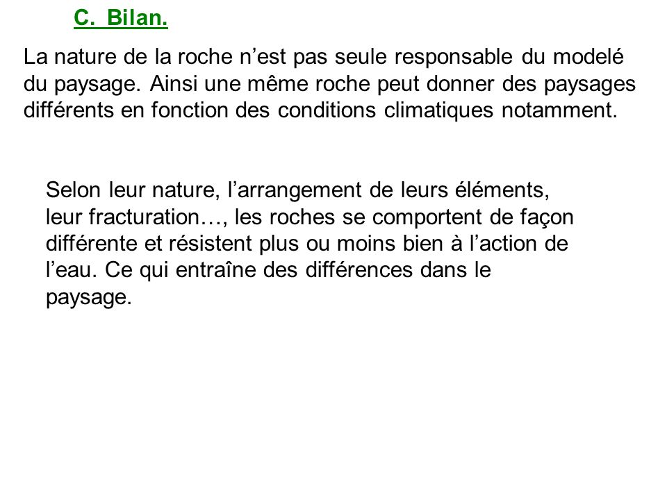 C. Bilan.