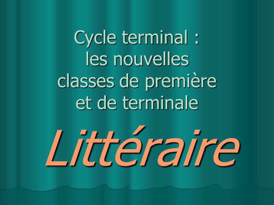 Cycle terminal : les nouvelles classes de première et de terminale