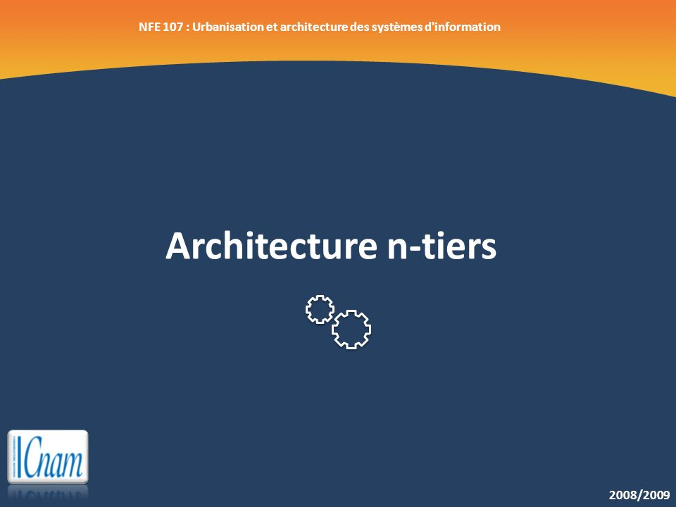 Nfe 107 urbanisation et architecture des syst mes d for Architecture n tiers definition
