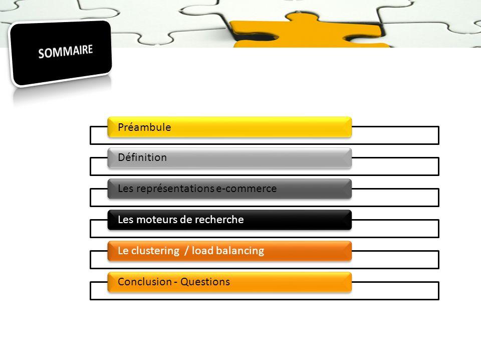 SOMMAIRE Préambule Définition Les représentations e-commerce
