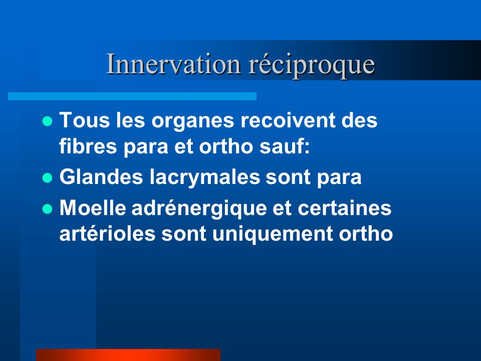 Innervation réciproque