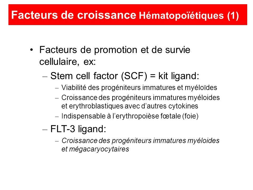 Facteurs de croissance Hématopoïétiques (1)