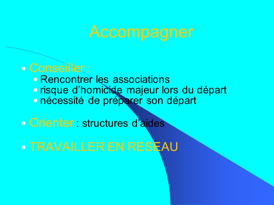 Accompagner Conseiller : Orienter : structures d'aides