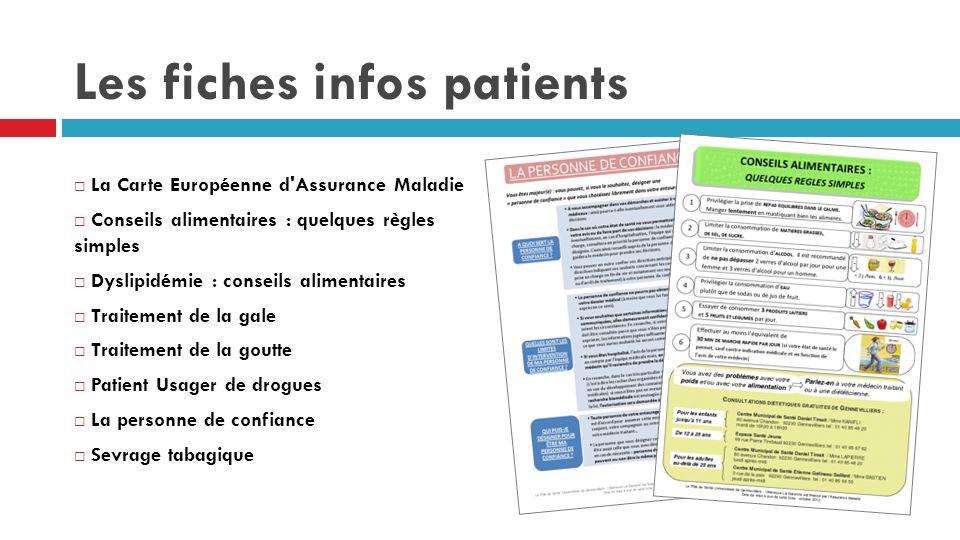 Les fiches infos patients