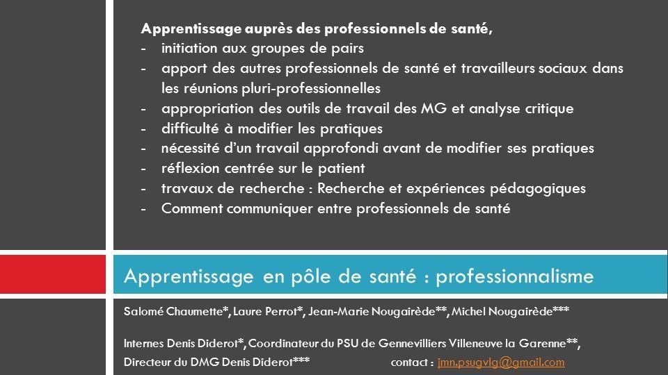 Apprentissage en pôle de santé : professionnalisme