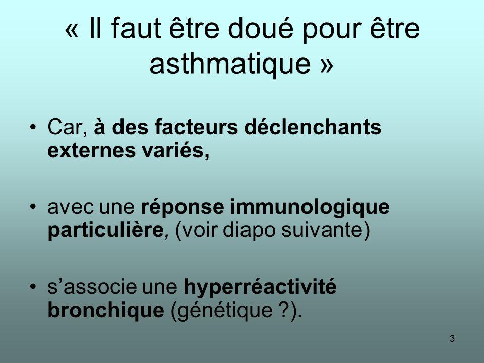 « Il faut être doué pour être asthmatique »