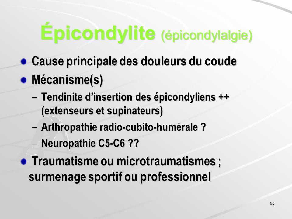 Épicondylite (épicondylalgie)