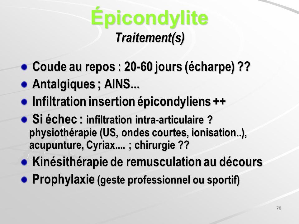 Épicondylite Traitement(s)