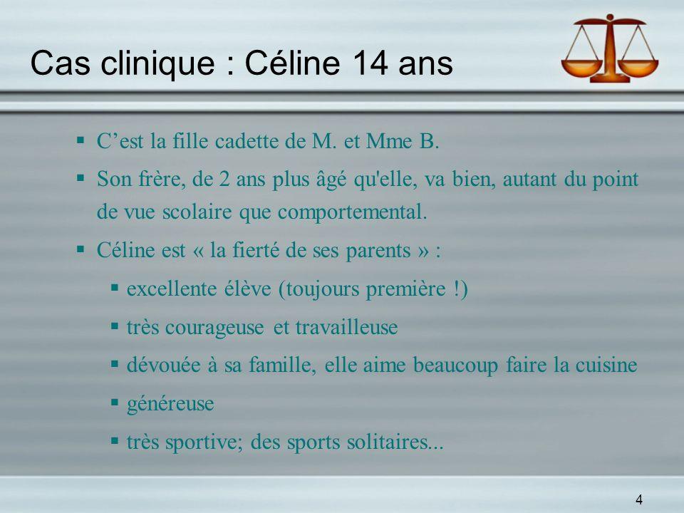 Cas clinique : Céline 14 ans