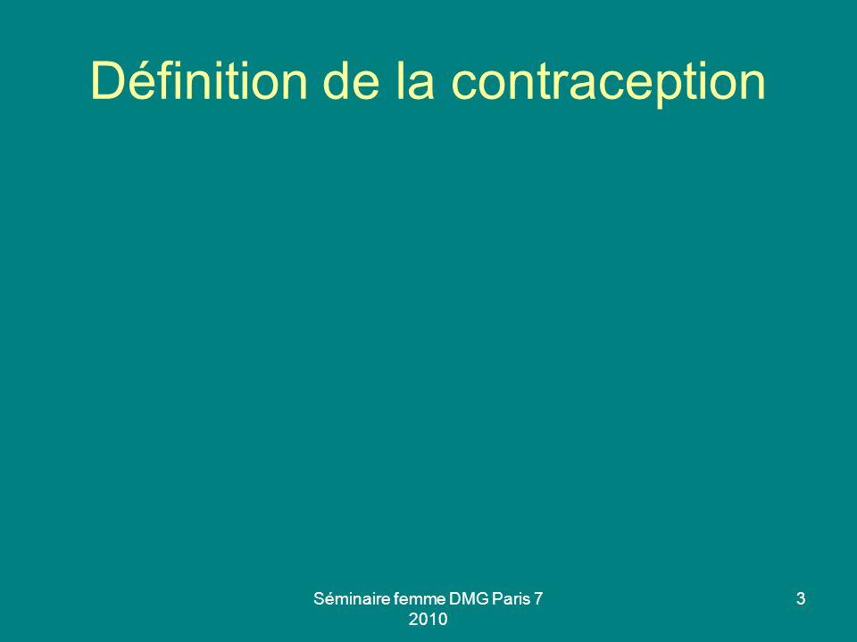 Définition de la contraception