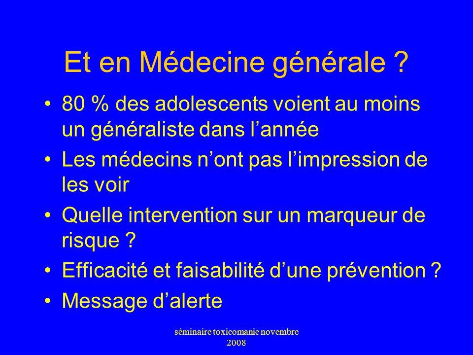 Et en Médecine générale