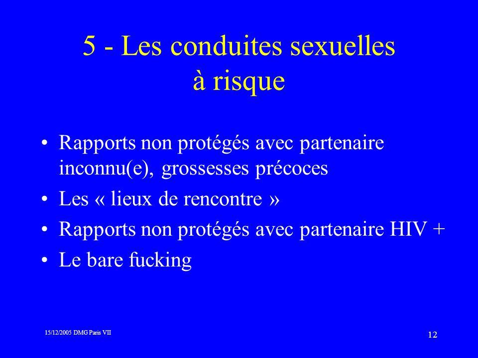 5 - Les conduites sexuelles à risque