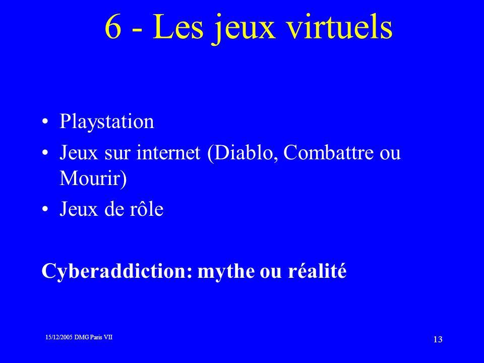 6 - Les jeux virtuels Playstation