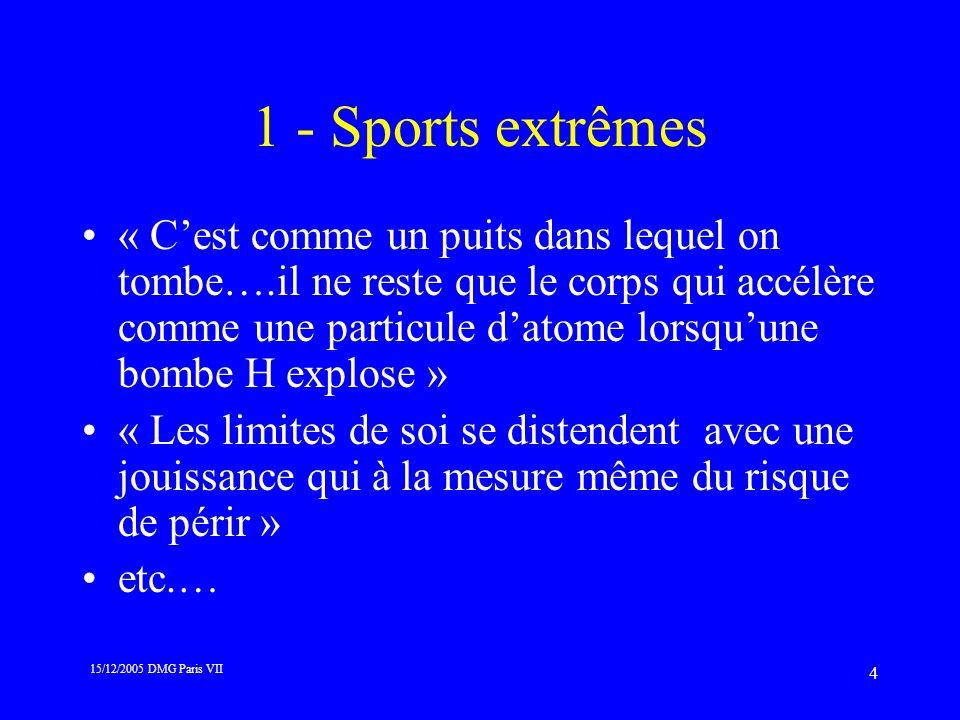 1 - Sports extrêmes