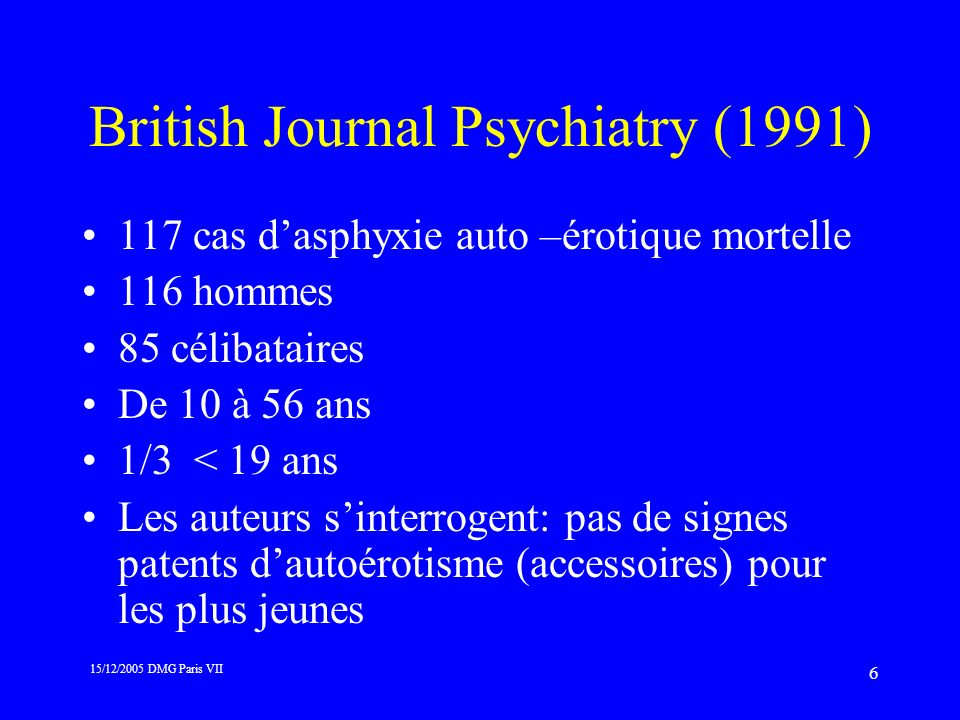 British Journal Psychiatry (1991)