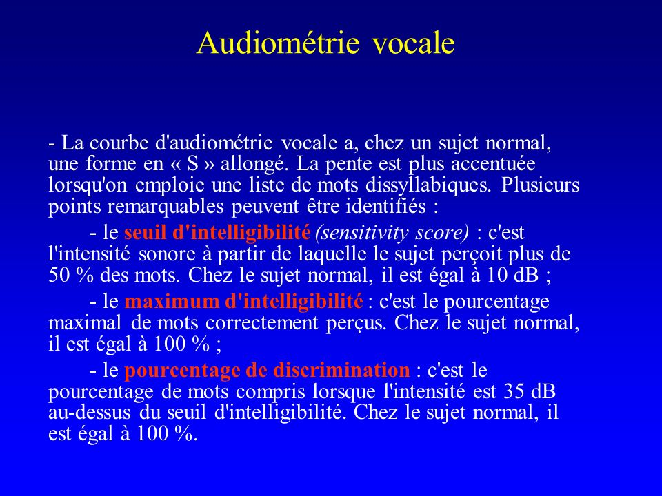 Audiométrie vocale