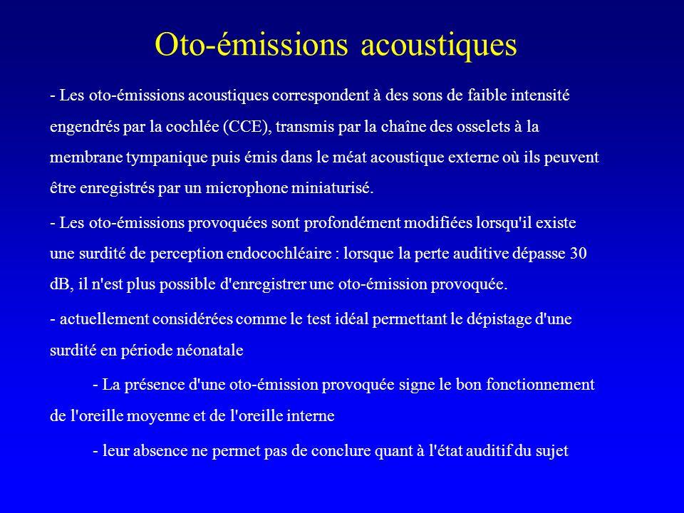 Oto-émissions acoustiques