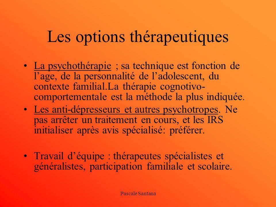 Les options thérapeutiques