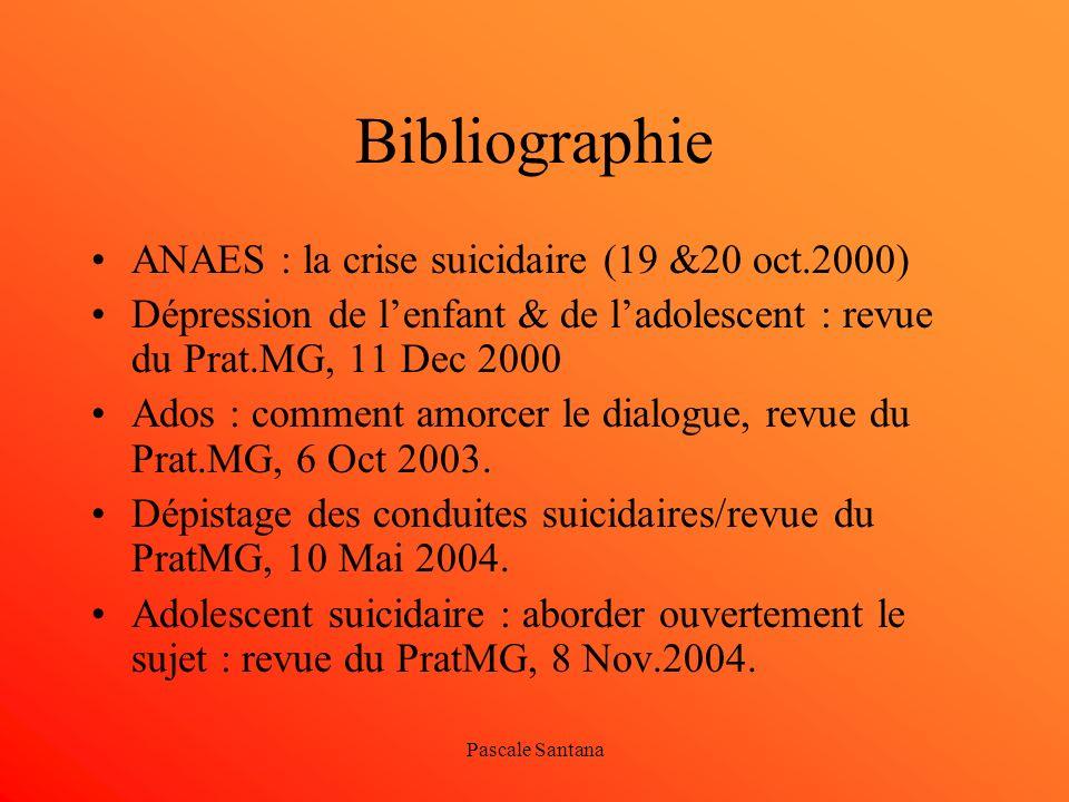 Bibliographie ANAES : la crise suicidaire (19 &20 oct.2000)