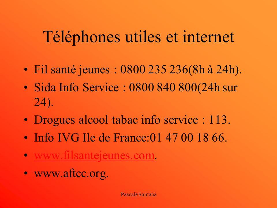 Téléphones utiles et internet