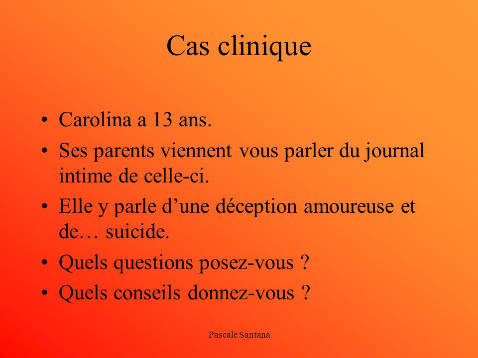 Cas clinique Carolina a 13 ans.