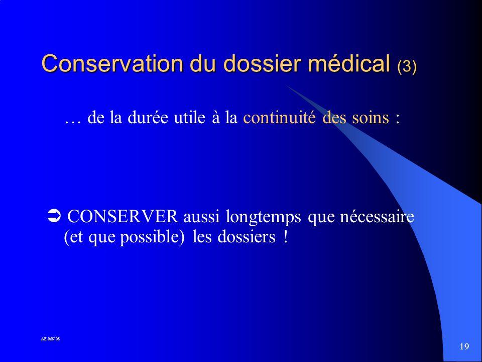 Conservation du dossier médical (3)