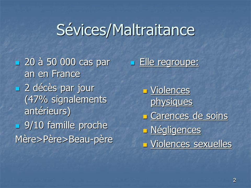 Sévices/Maltraitance