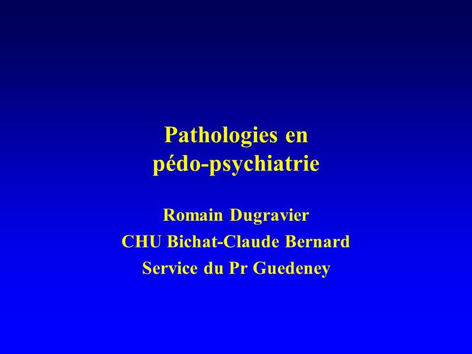 Pathologies en pédo-psychiatrie