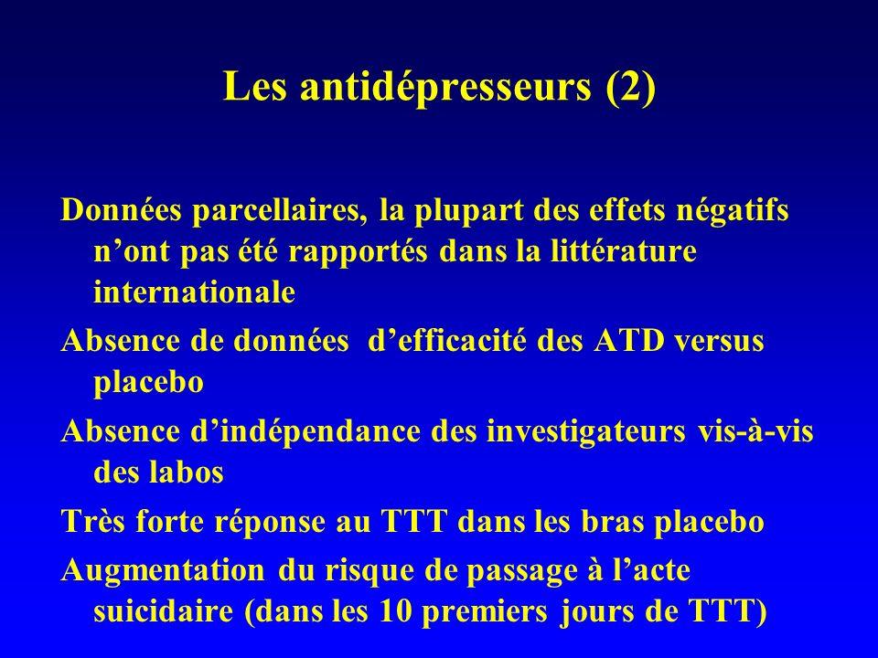 Les antidépresseurs (2)
