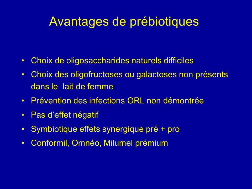 Avantages de prébiotiques