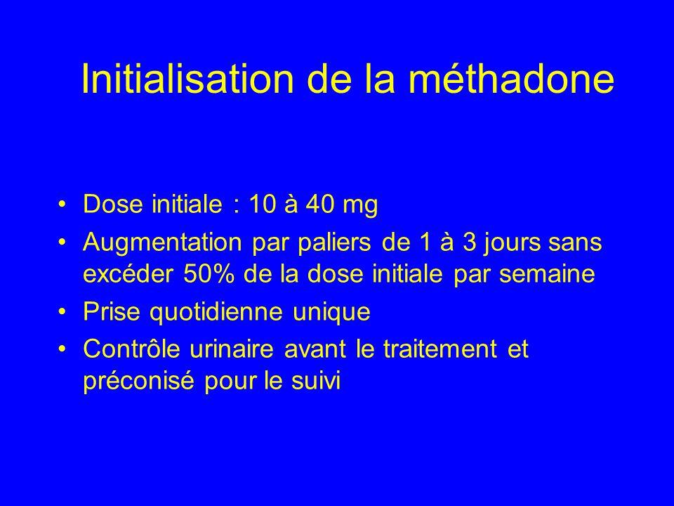 Initialisation de la méthadone