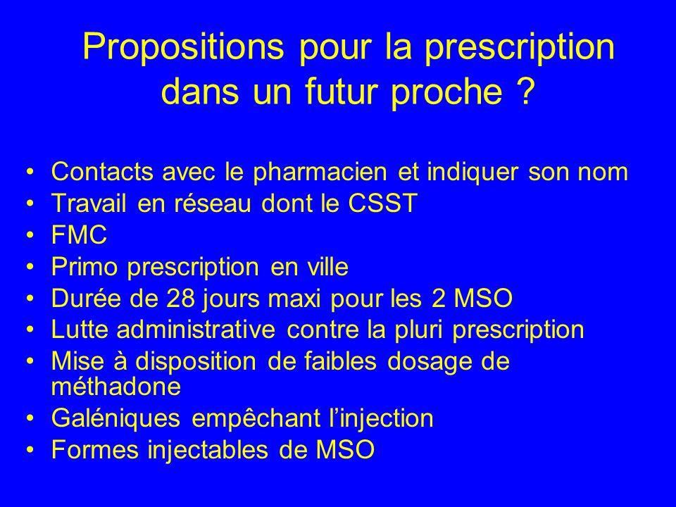 Propositions pour la prescription dans un futur proche