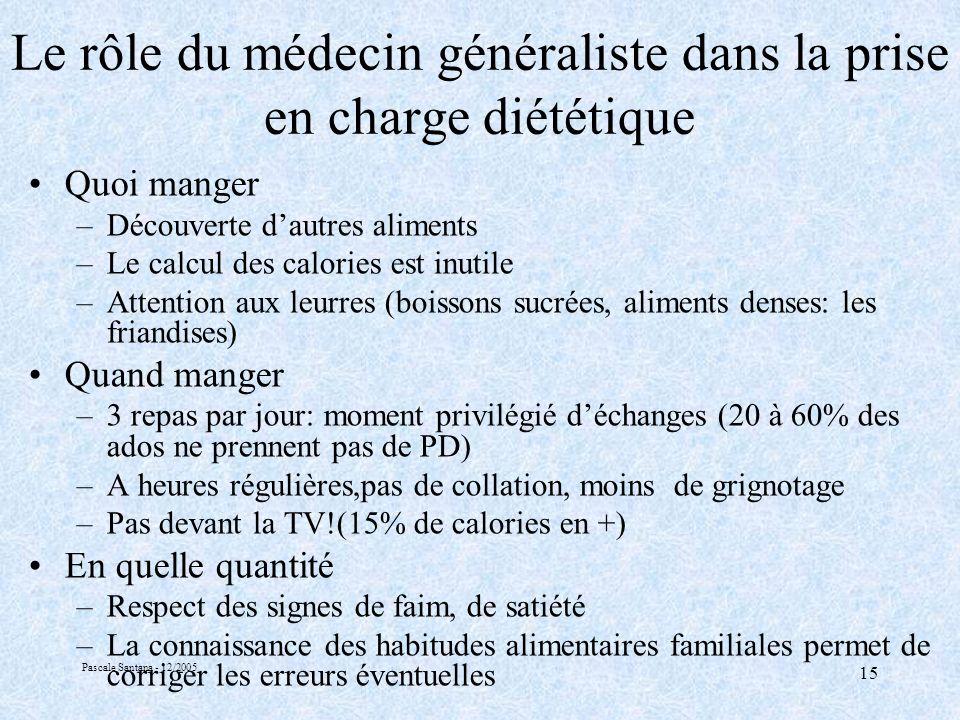 Le rôle du médecin généraliste dans la prise en charge diététique