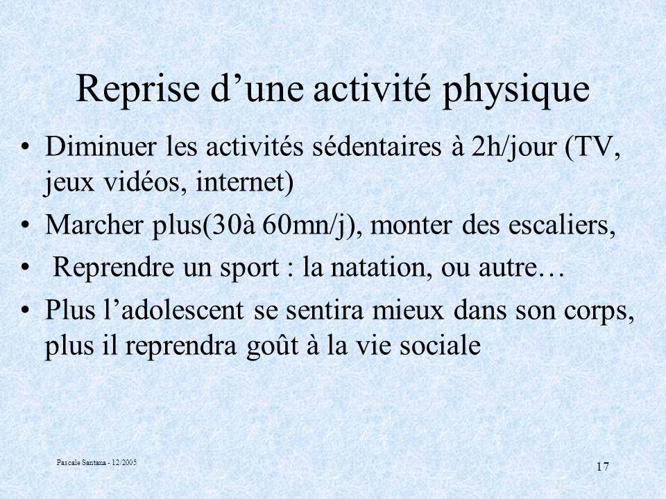 Reprise d'une activité physique