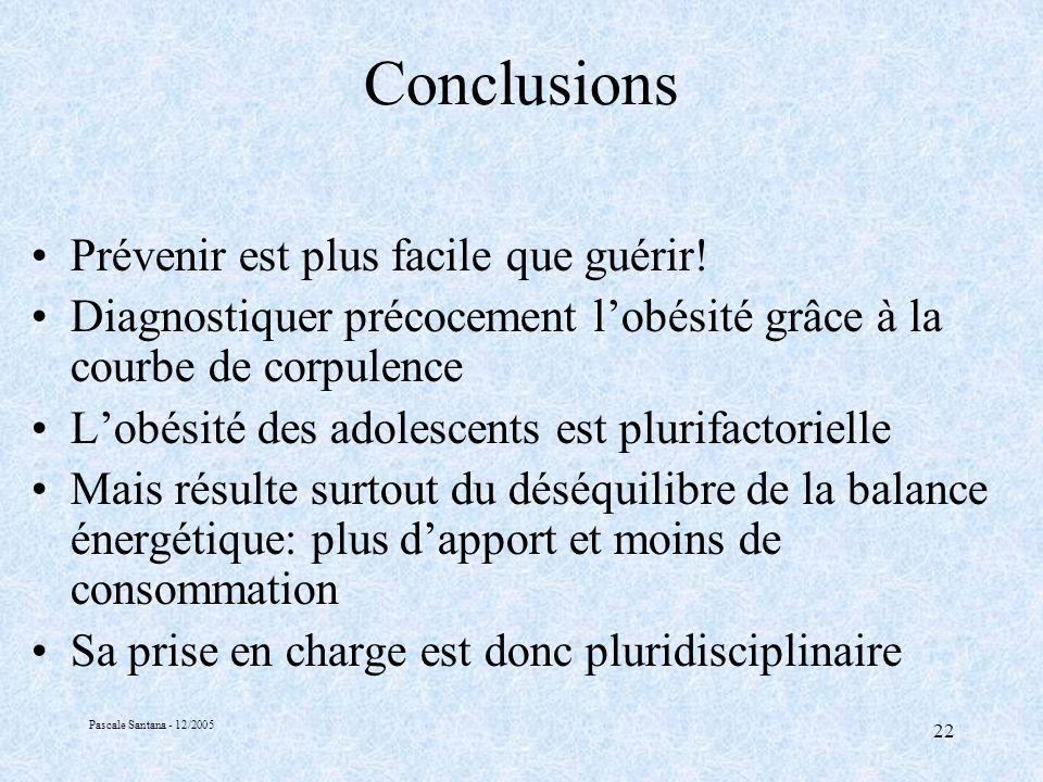 Conclusions Prévenir est plus facile que guérir!