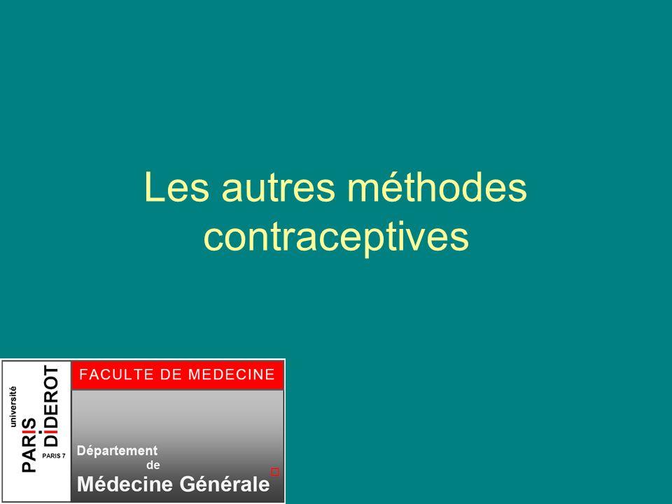 Les autres méthodes contraceptives
