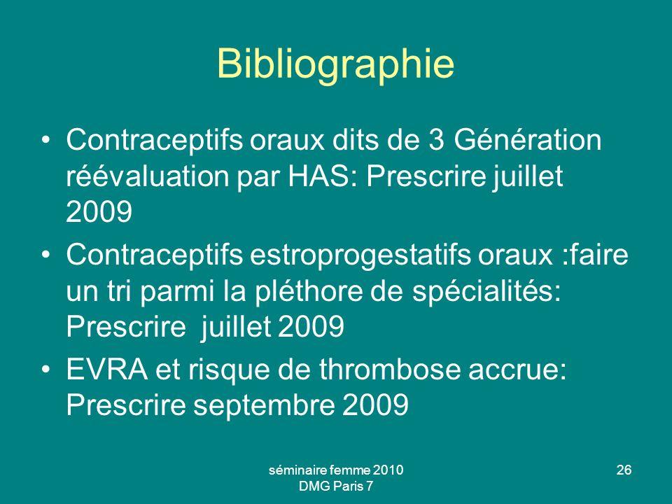 séminaire femme 2010 DMG Paris 7
