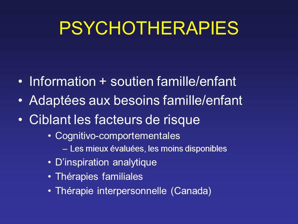 PSYCHOTHERAPIES Information + soutien famille/enfant