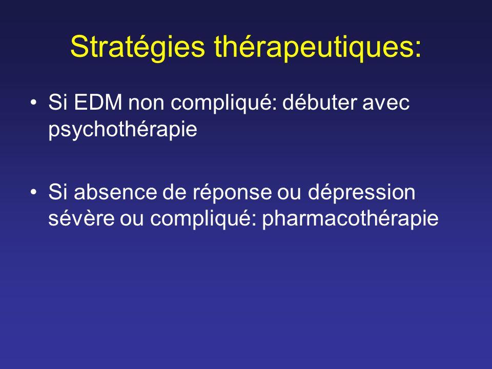 Stratégies thérapeutiques: