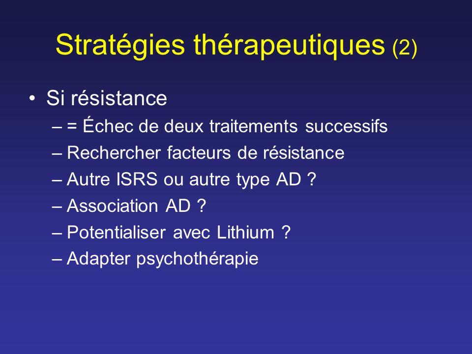 Stratégies thérapeutiques (2)