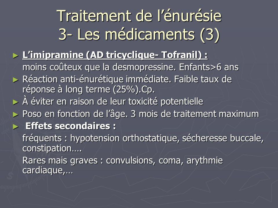 Traitement de l'énurésie 3- Les médicaments (3)